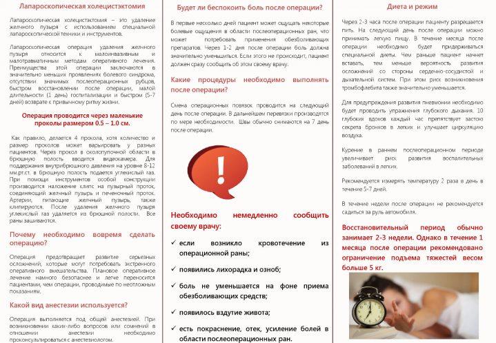диета при лапароскопической холецистэктомии