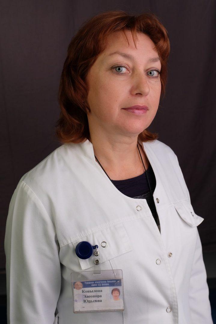 Почётное звание «Почётный работник здравоохранения города Москвы» присуждено Копыловой Элеоноре Юрьевне, заместителю главного врача по клинико-экспертной работе