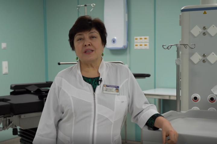 Г.Ш.Аржиматова об открытии Московского офтальмологического центра на базе Боткинской больницы.