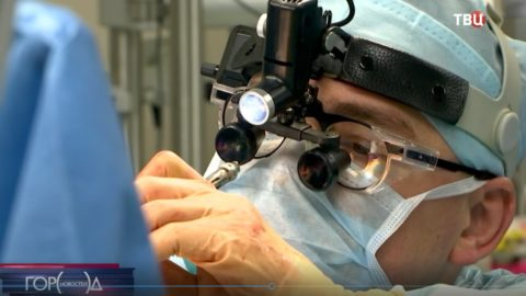 Операция аорто-коронарного шунтирования (АКШ) из минидоступа. Отделение кардиохирургии Боткинской больницы, Москва.