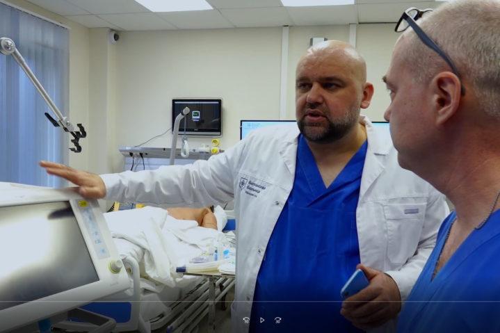 Курс «Особенности ИВЛ у пациентов с вирусной пневмонией» в Медицинском симуляционном центре Боткинской больницы.