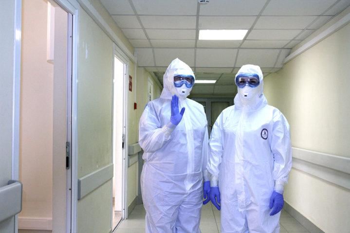 Приемное отделение COVID-центра Боткинской больницы ДЗМ.