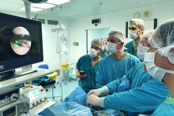 Хондропластика при помощи лазера. СКП №1 Боткинской больницы ДЗМ.